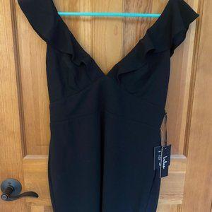 Lulus Deep V Little Black Dress